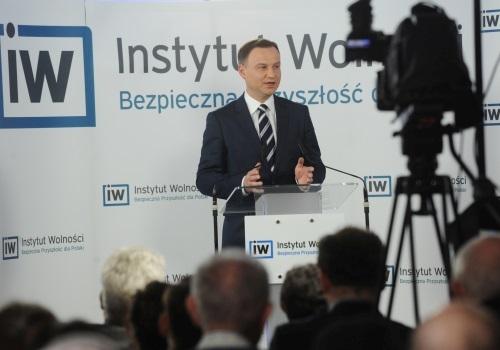 Andrzej Duda w Instytucie Wolności