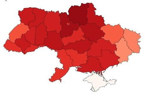 Mapy poparcia kandydatów – Ukraina Wybiera